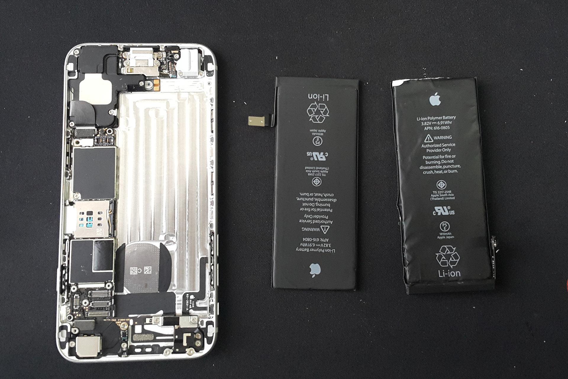 замена батарейки для iphone 4